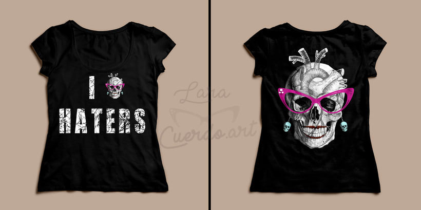 """I HEART haters "" :) Print  y camiseta  1"