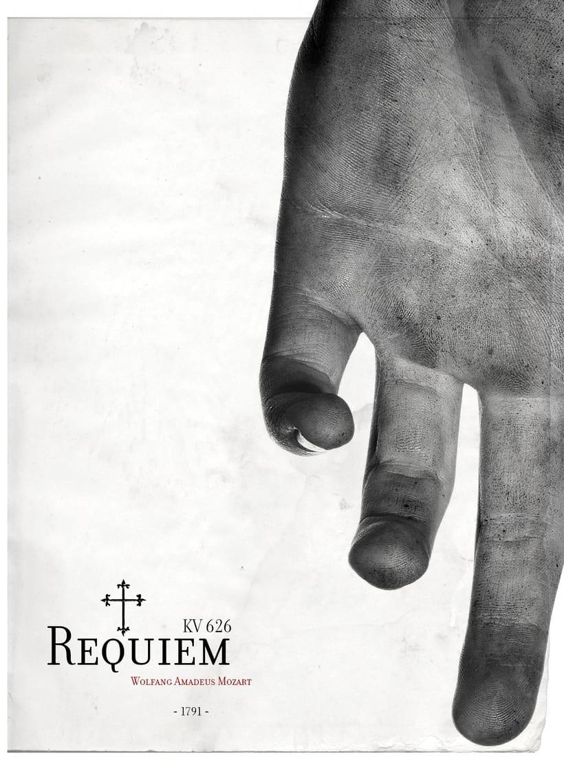 Requiem Mozart. Poster (estudio y bocetos) 2