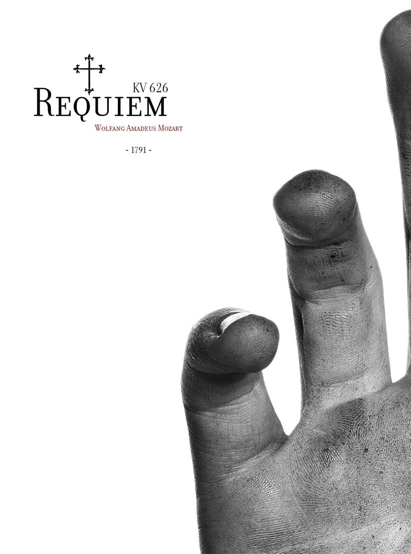 Requiem Mozart. Poster (estudio y bocetos) 3
