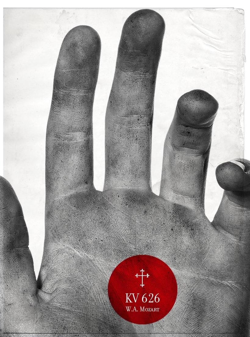Requiem Mozart. Poster (estudio y bocetos) 6