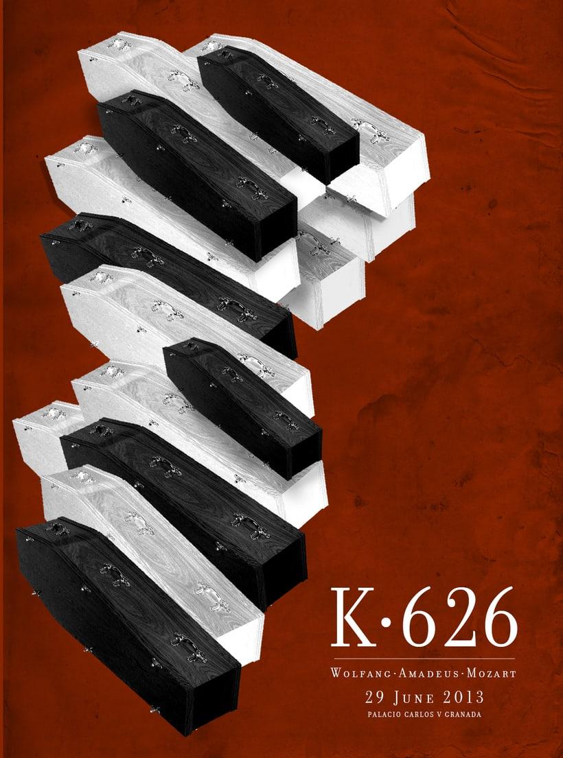 Requiem Mozart. Poster (estudio y bocetos) 7