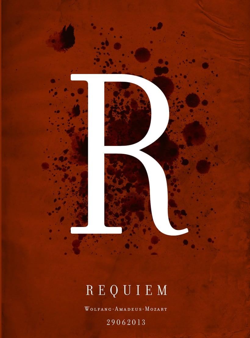 Requiem Mozart. Poster (estudio y bocetos) 8
