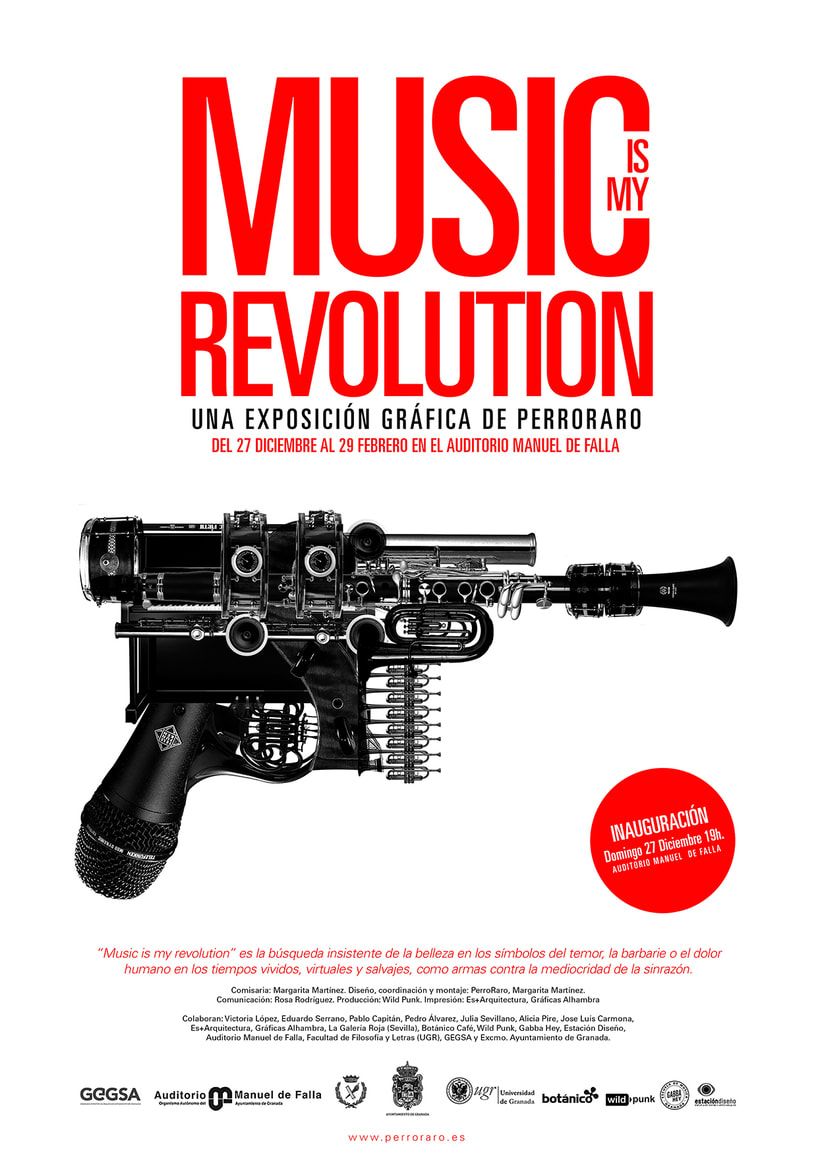 Music is my revolution. Exposition graphic art. -1