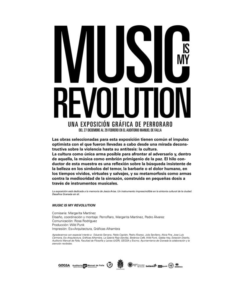 Music is my revolution. Exposition graphic art. 1