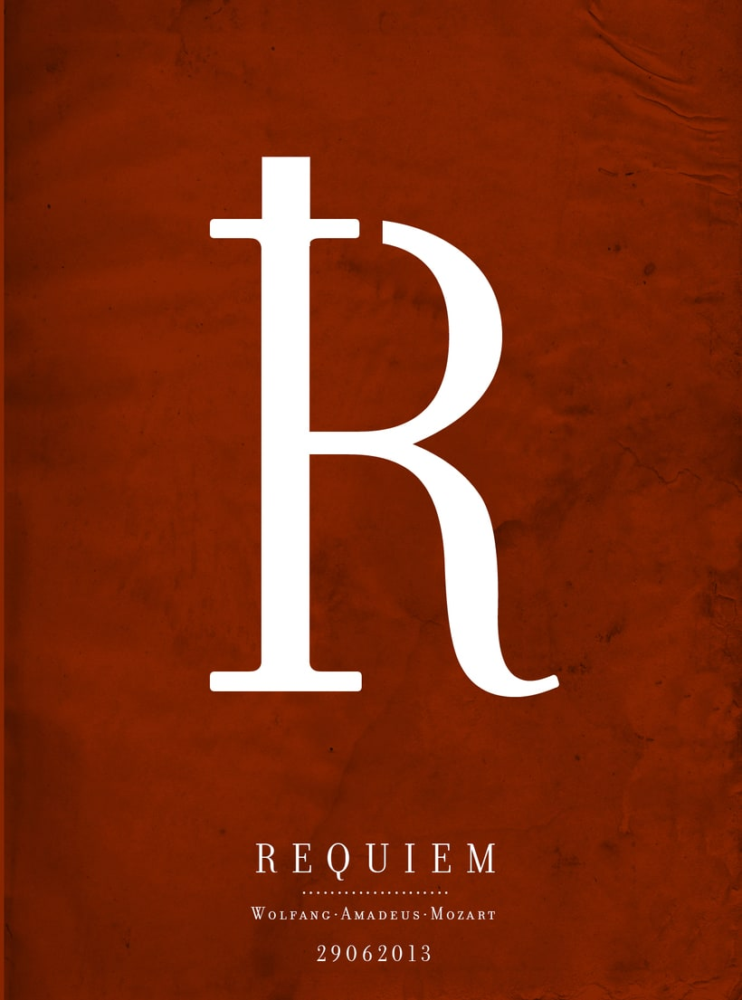 Requiem Mozart. Poster (estudio y bocetos) 10