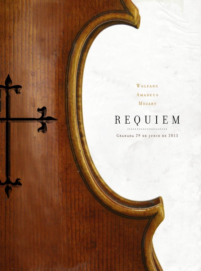 Requiem Mozart. Poster (estudio y bocetos) 11