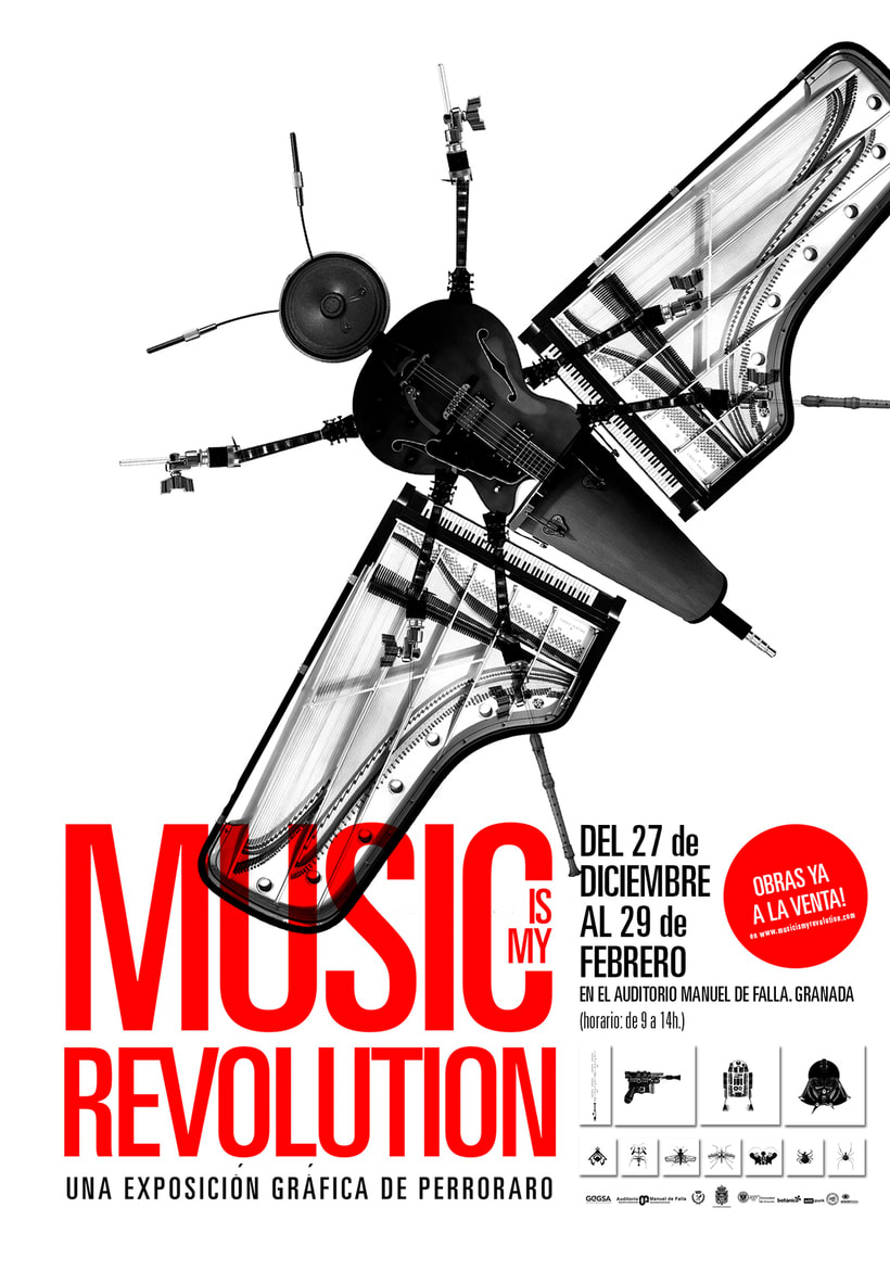 Music is my revolution. Exposition graphic art. 21