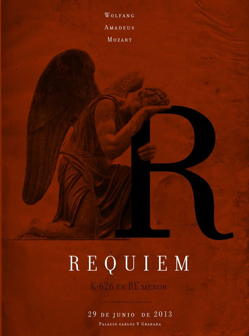 Requiem Mozart. Poster (estudio y bocetos) 15