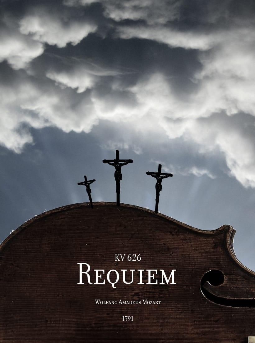 Requiem Mozart. Poster (estudio y bocetos) 16