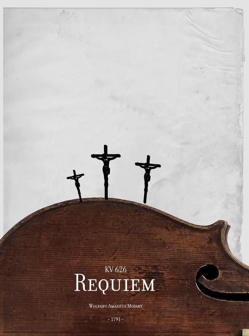 Requiem Mozart. Poster (estudio y bocetos) 17
