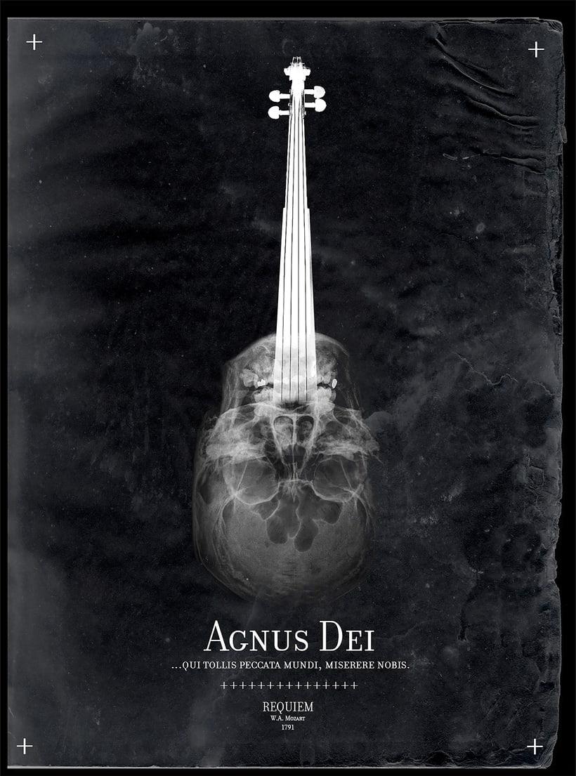Requiem Mozart. Poster (estudio y bocetos) 18