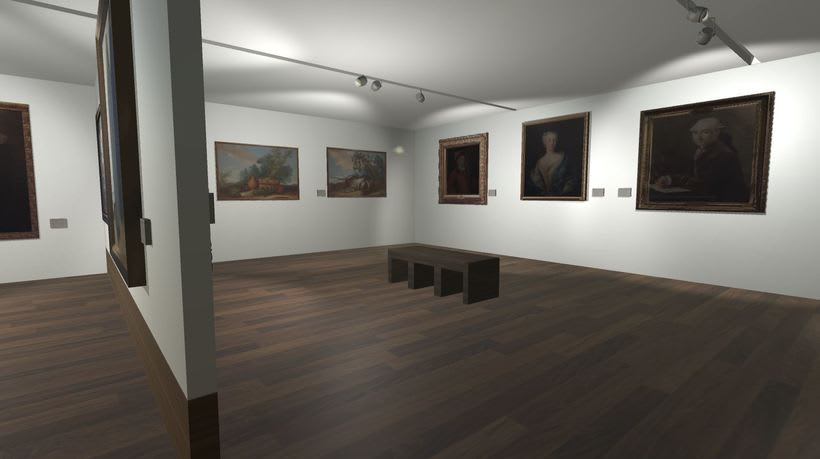 Sala con cuadros Museo San Telmo (Donostia - San Sebastián, España) 1