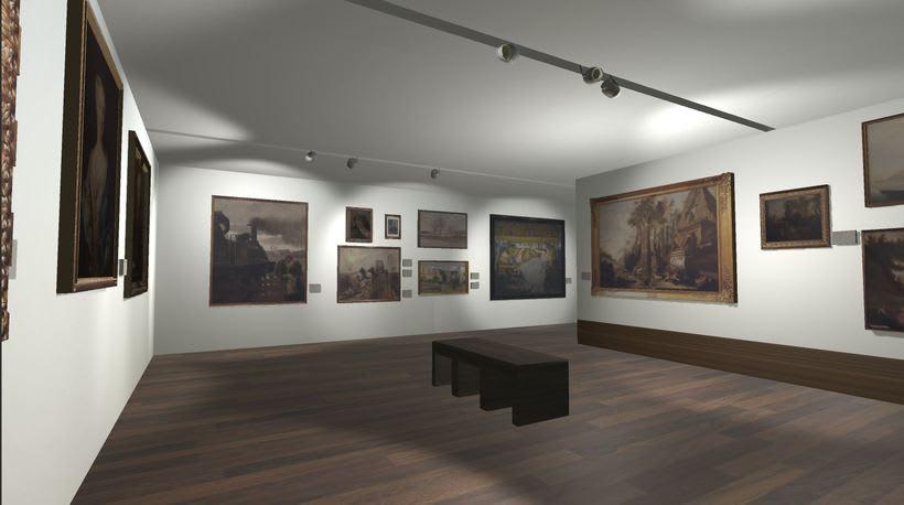 Sala con cuadros Museo San Telmo (Donostia - San Sebastián, España) 3