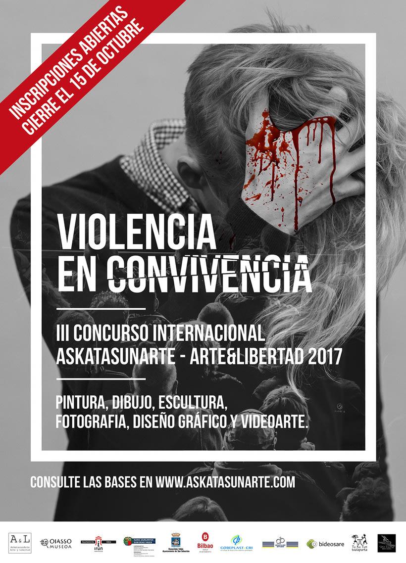 III Certamen Artístico Internacional Askatasunarte-arte&libertad 2017. Violencia en convivencia 1