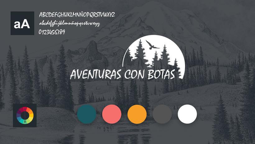 Logotipo y Diseño Web - Aventuras con Botas 0