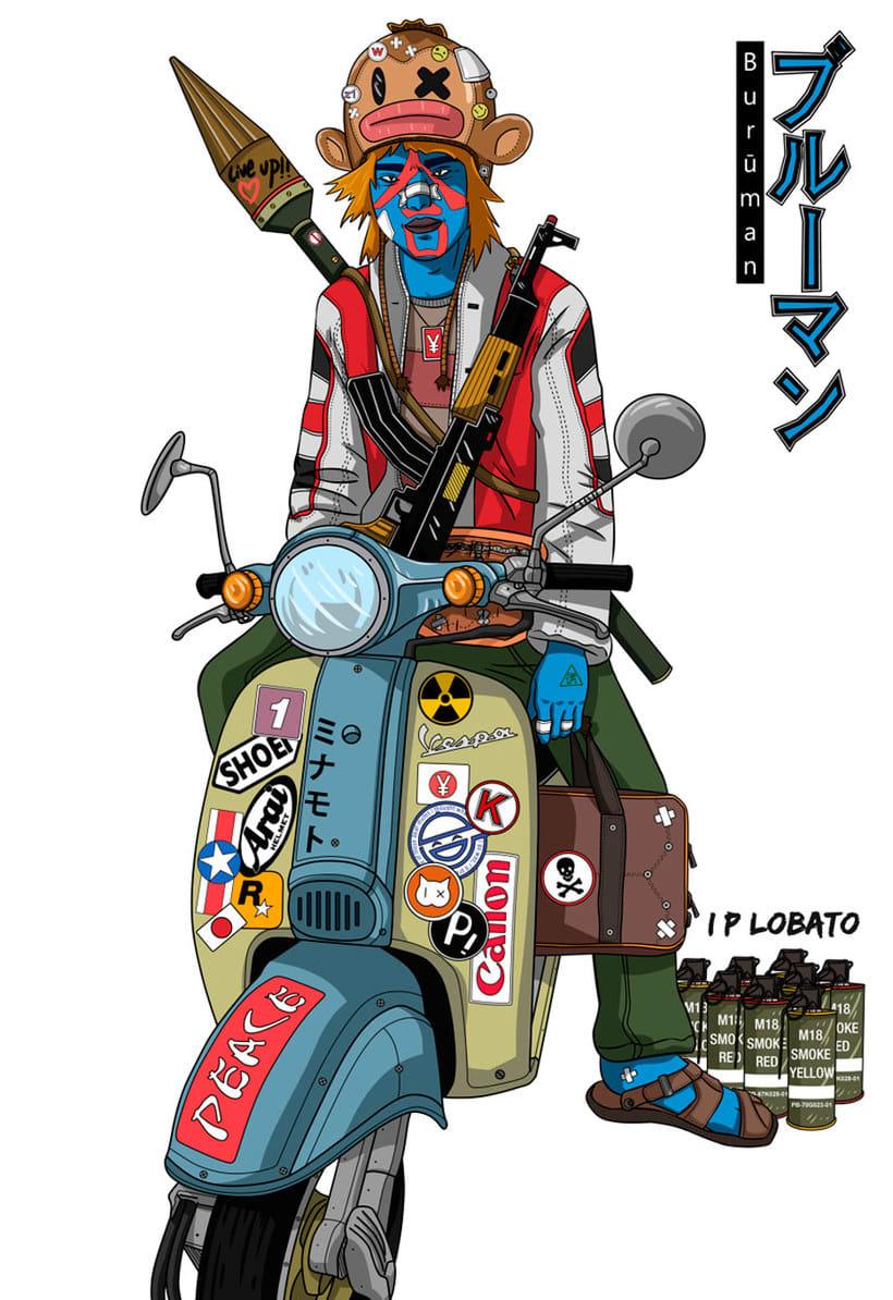 Las ilustraciones de inspiración asiática de IP Lobato 3
