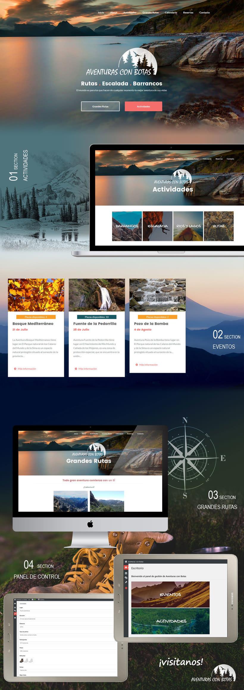 Logotipo y Diseño Web - Aventuras con Botas 1