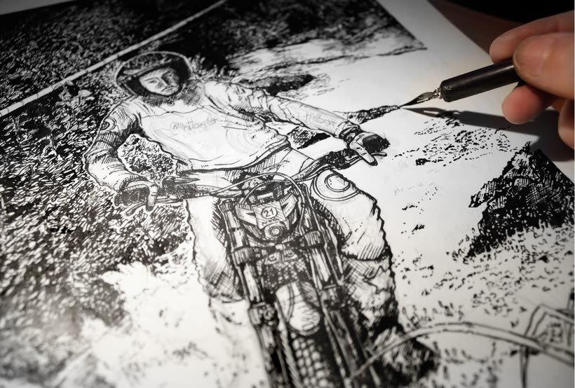 Tinta seria - Ilustraciones a tinta 2