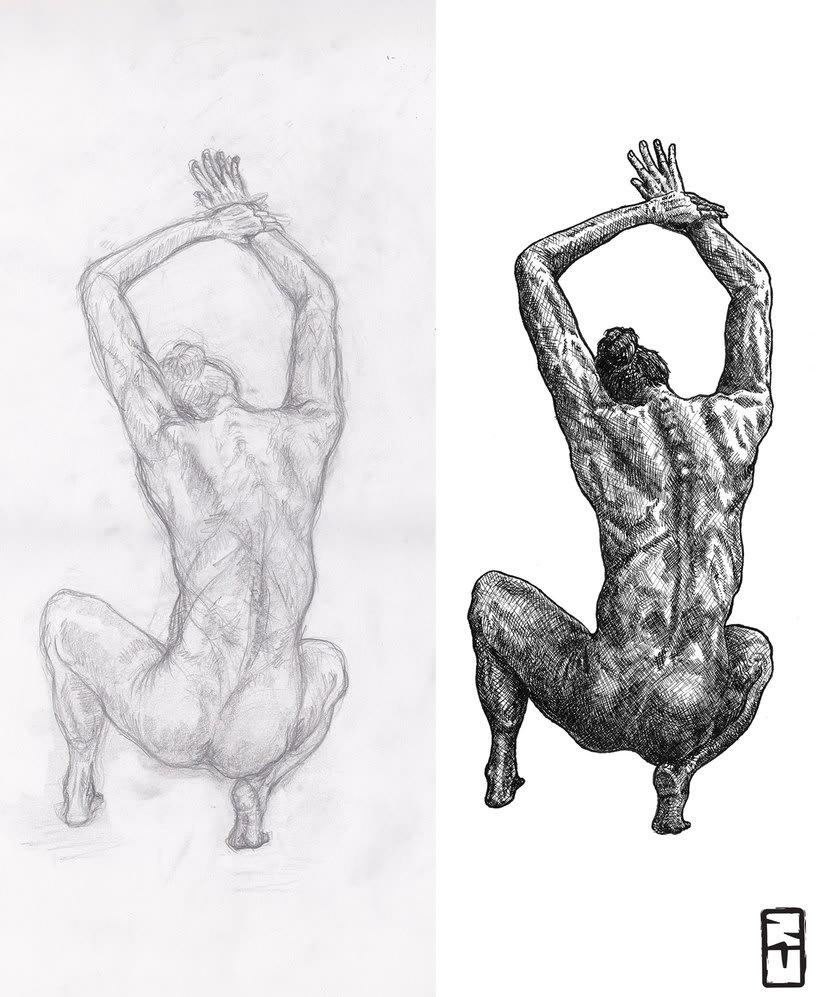 Tinta seria - Ilustraciones a tinta 3