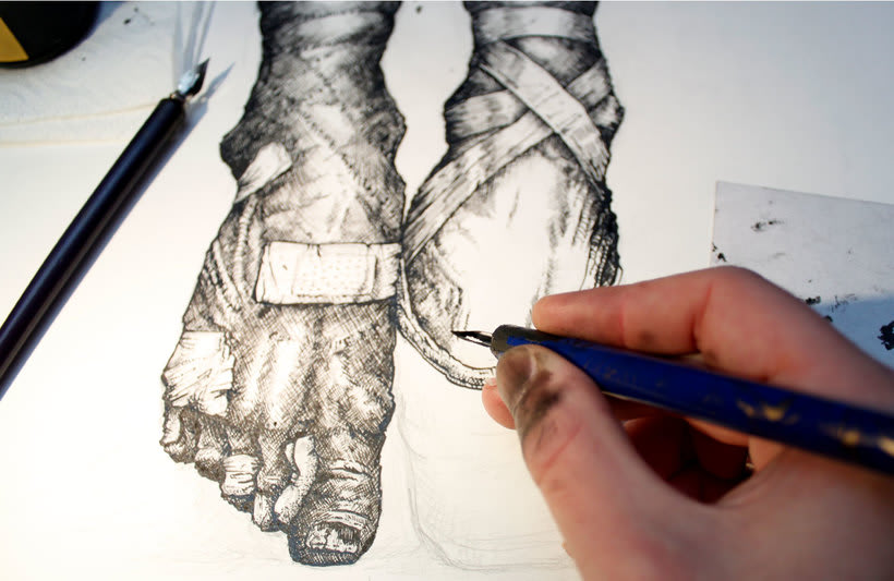 Tinta seria - Ilustraciones a tinta 7