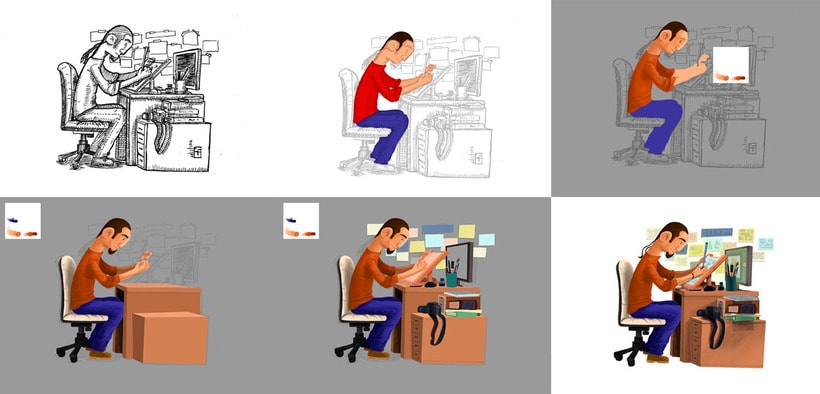 Geometrizando – Ilustraciones digitales 1