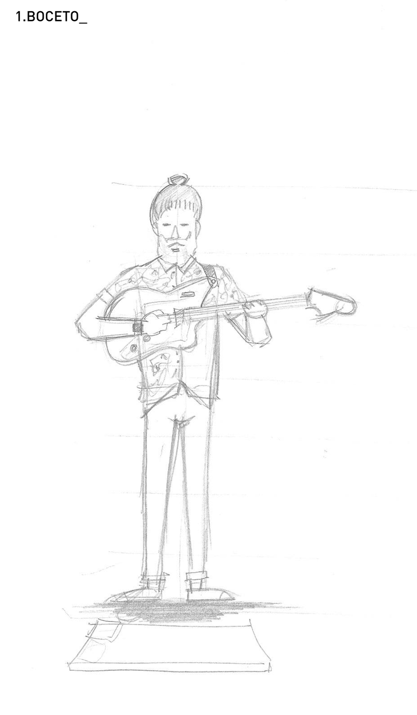 Ilustración guitarrista Indie -1