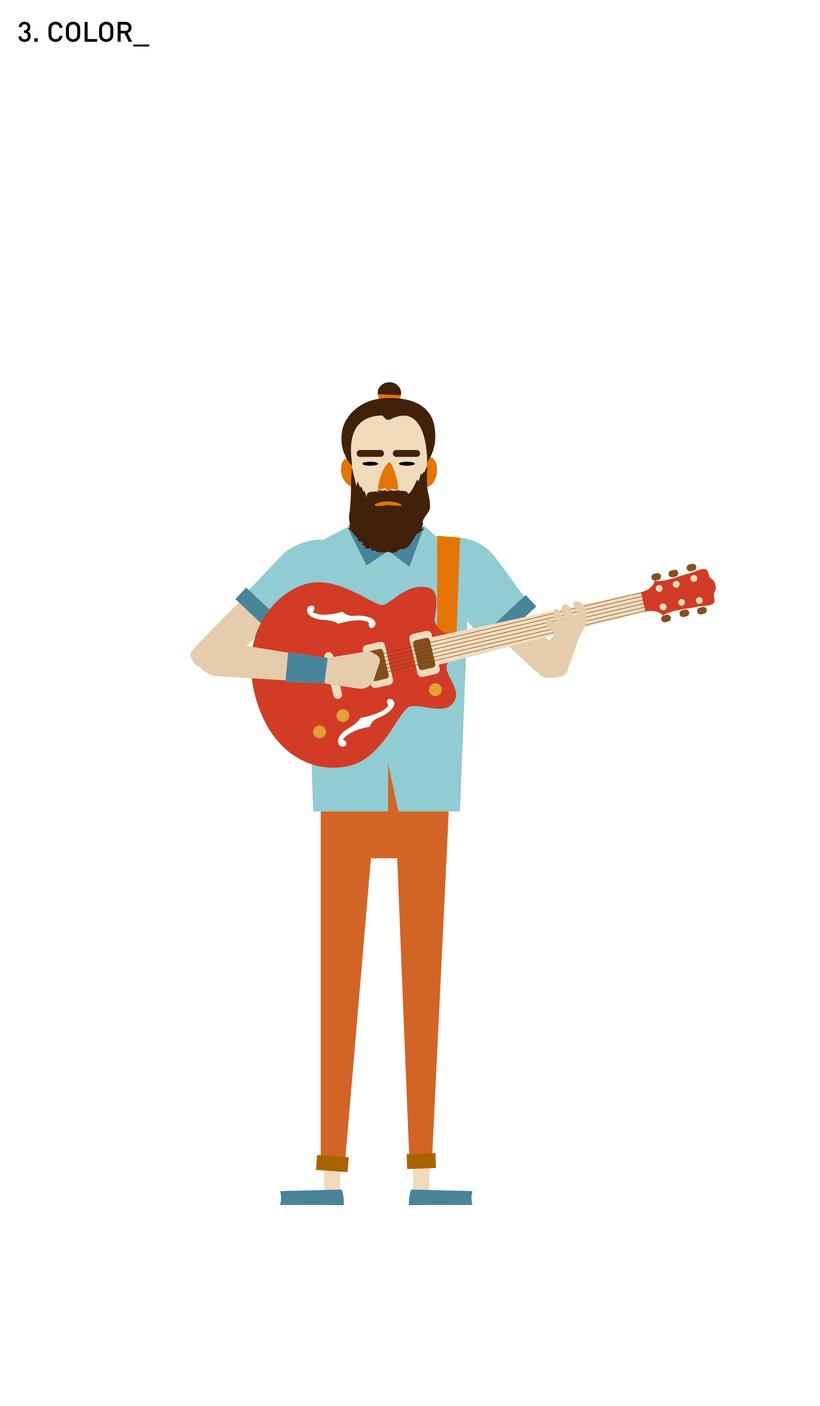 Ilustración guitarrista Indie 1