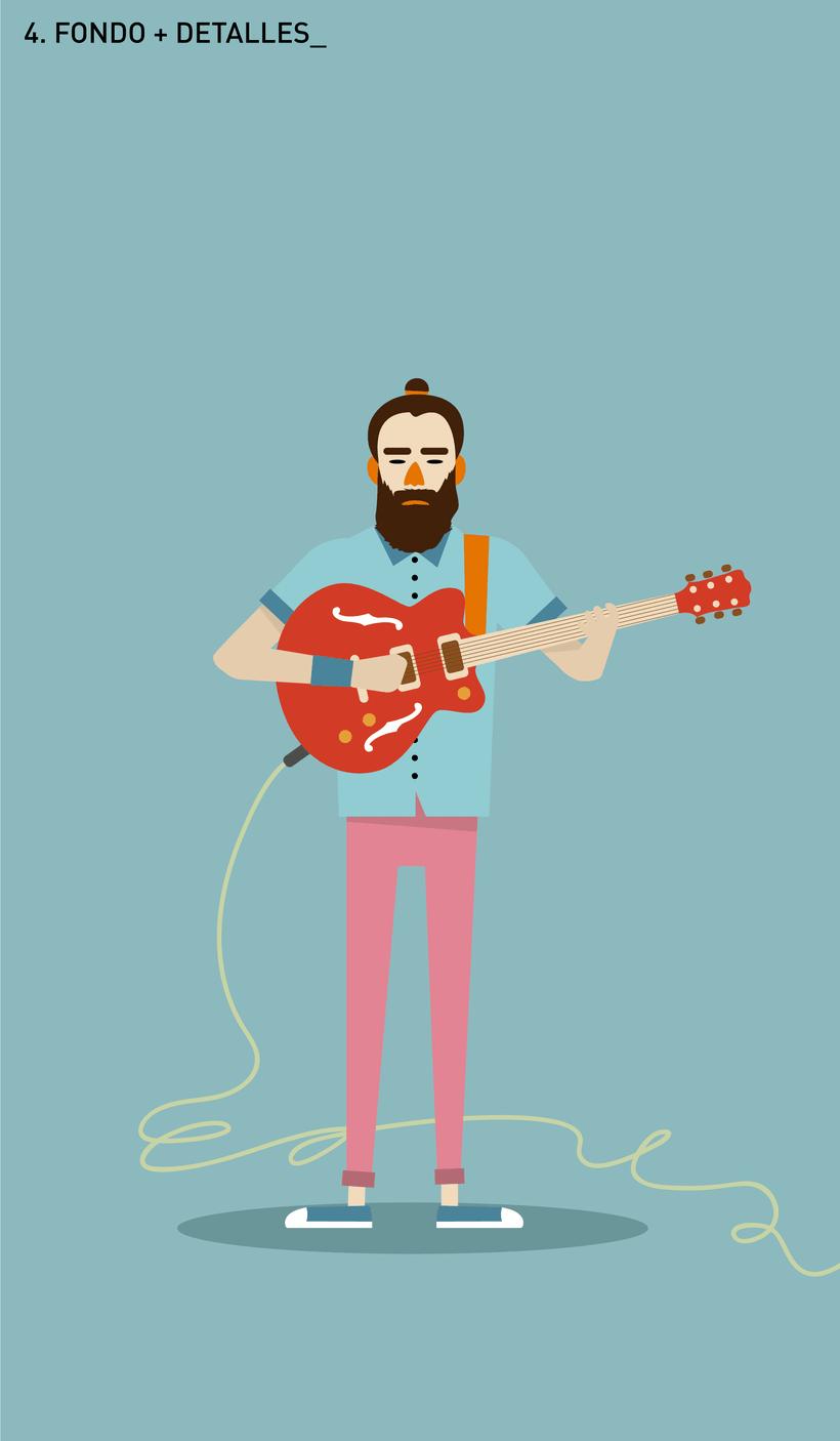 Ilustración guitarrista Indie 2