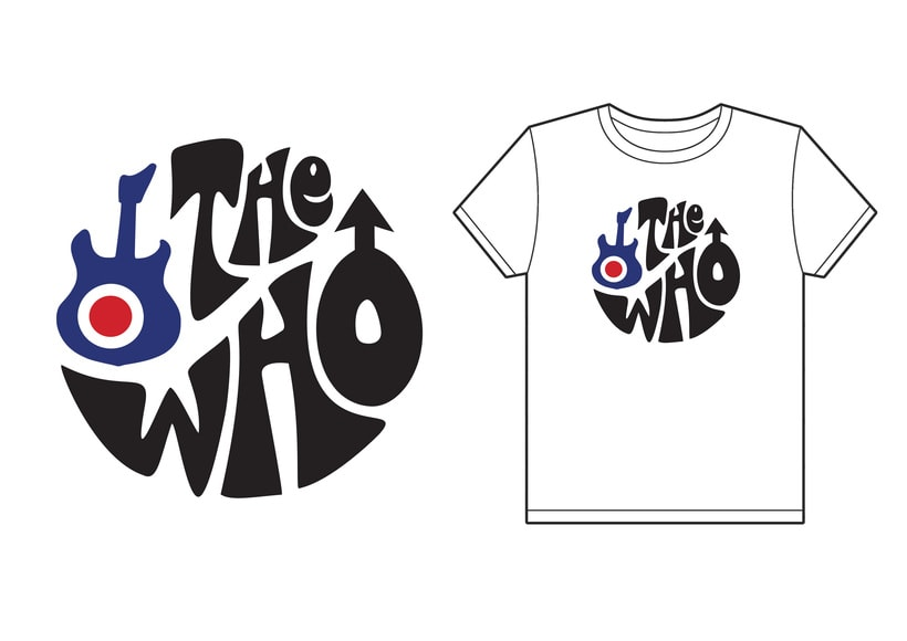 Diseño de camiseta para The Who y Pretty Green en colaboración con Talenthouse 6