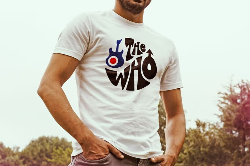 Diseño de camiseta para The Who y Pretty Green en colaboración con Talenthouse 8