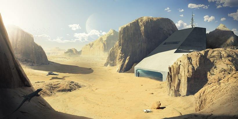 Desert planet - Matte painting 0