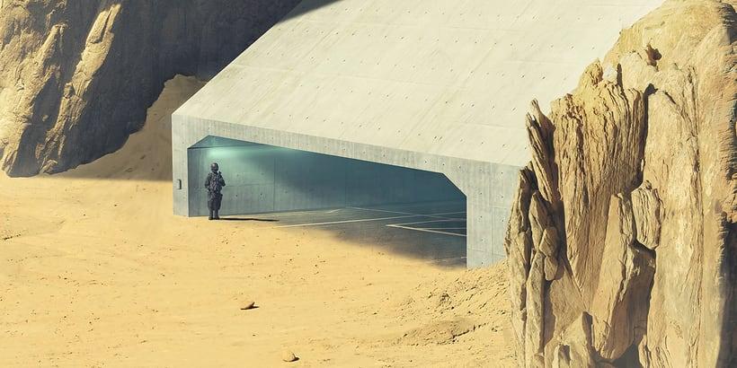 Desert planet - Matte painting 2