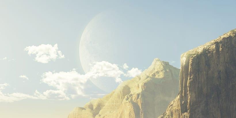 Desert planet - Matte painting 3