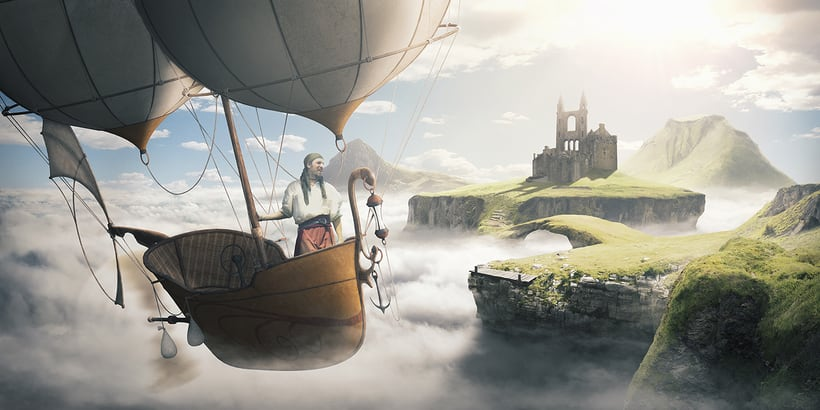 Castle in the sky - Matte painting 0