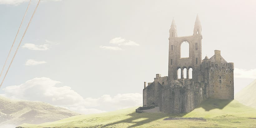 Castle in the sky - Matte painting 1