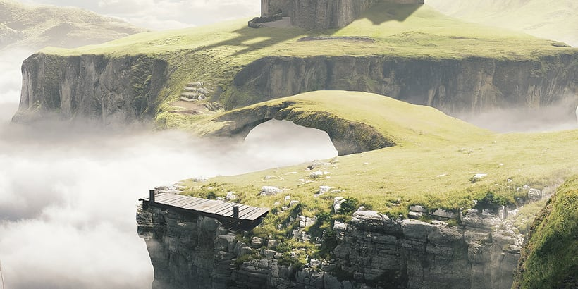 Castle in the sky - Matte painting 2