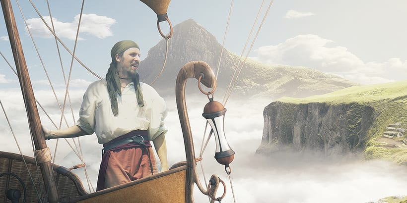 Castle in the sky - Matte painting 3