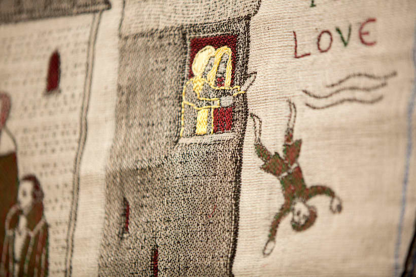 Un tapiz bordado con escenas épicas de Juego de Tronos 7