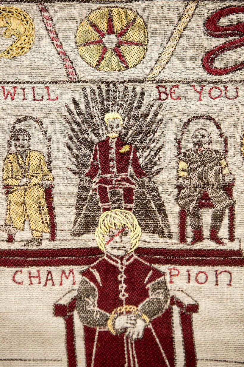 Un tapiz bordado con escenas épicas de Juego de Tronos 10