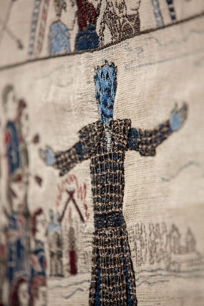Un tapiz bordado con escenas épicas de Juego de Tronos 11