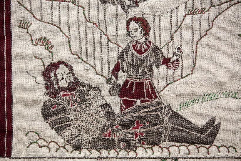 Un tapiz bordado con escenas épicas de Juego de Tronos 12