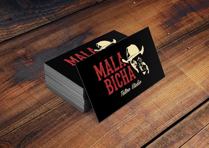 "Branding: ""MALA BICHA Tattoo Studio""_ Dogo Impulsive Design 6"