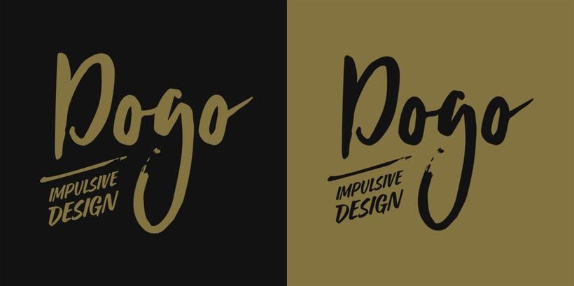 Diseño de logotipo, imagen corporativa, papelería corporativa, tarjetas de visita y mockups de DOGO Impulsive Design 0