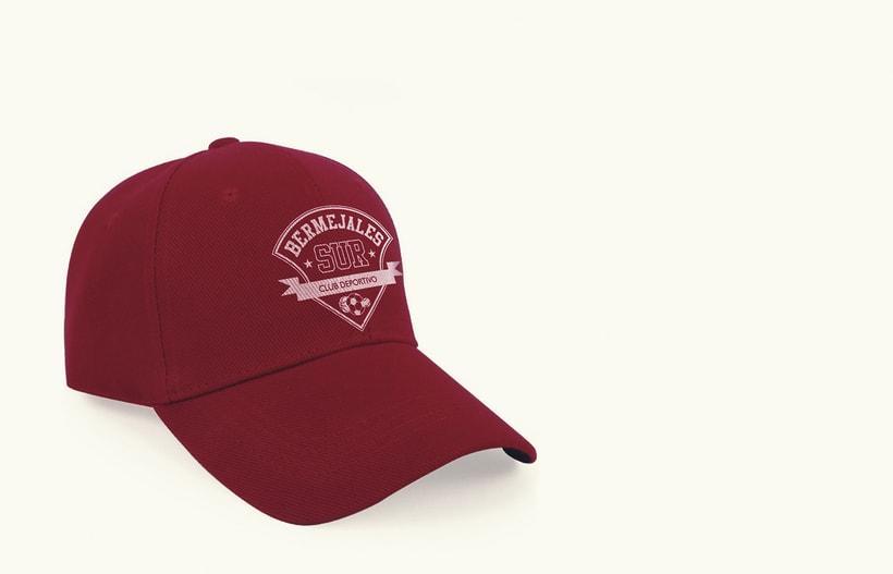 Diseño de logotipo, imagen corporativa y mockups_BERMEJALES SUR C.D. 4