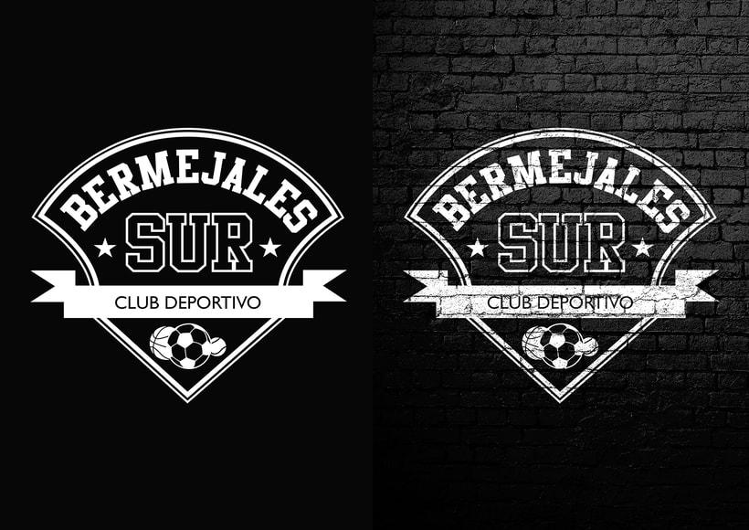Diseño de logotipo, imagen corporativa y mockups_BERMEJALES SUR C.D. 1