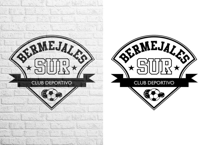 Diseño de logotipo, imagen corporativa y mockups_BERMEJALES SUR C.D. 0