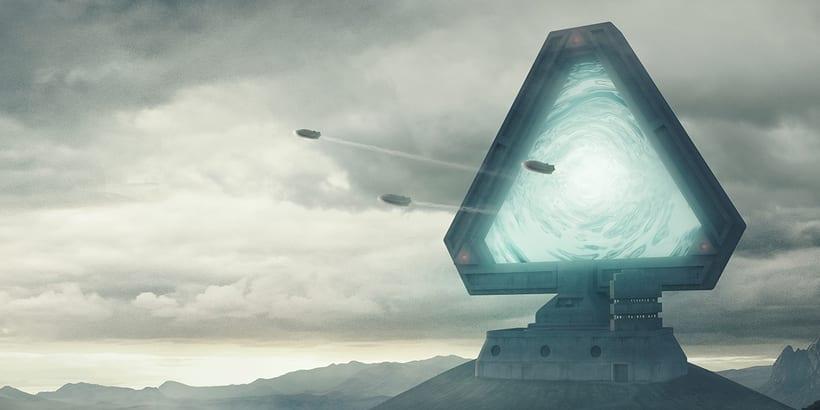 Portal estelar - Matte painting 1