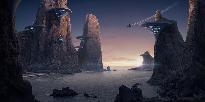 Cone bay - Matte painting 0