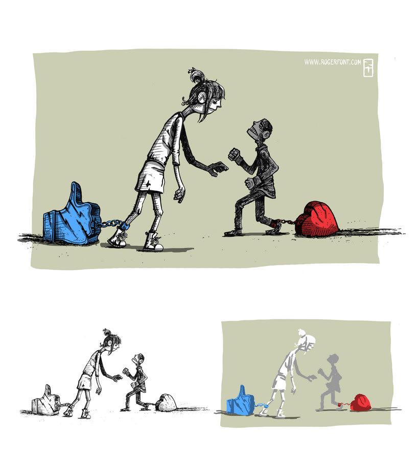 Tinta crítica - Ilustraciones a tinta y color digital 1