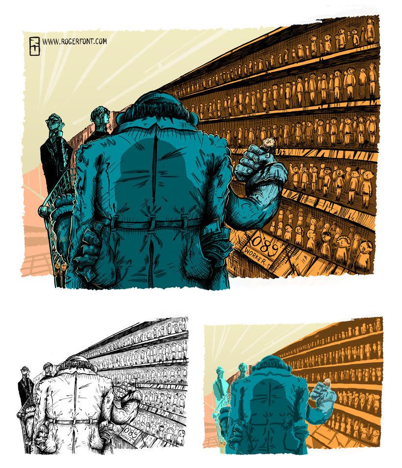 Tinta crítica - Ilustraciones a tinta y color digital 2